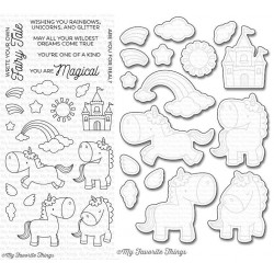 MFT MAGICAL UNICORNS STAMPS AND DIES SET