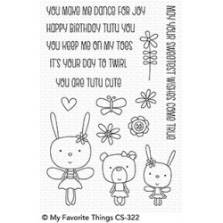 MFT TUTU TRIO  CLEAR STAMPS