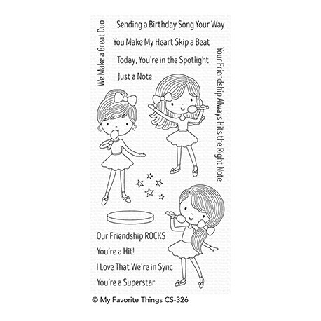 MFT FRIENDSHIP ROCKS  CLEAR STAMPS and DIES SET