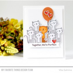 MFT CUTE CATS  CLEAR STAMPS