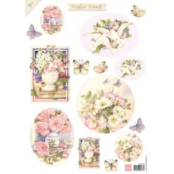 COUPAGE SHEET,  Mattie mooiste summerflowers 2