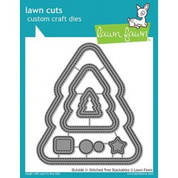 LAWN FAWN cuts Outsine/in stitched Christmas Tree