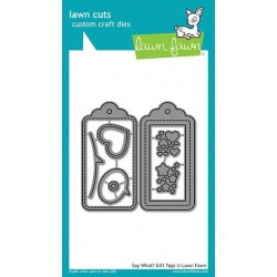 LAWN FAWN cuts SAY WHAT GIFT TAG DIES