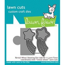 LAWN FAWN  CUTS REVEAL WHEEL SHOOTING STAR ADD-ON DIES