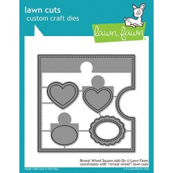 LAWN FAWN  CUTS REVEAL WHEEL SQUARE ADD ON DIES