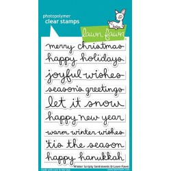 LAWN FAWN WINTER SCRIPTY SENTIMENTS STAMPS