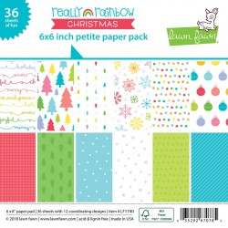 LAWN FAWN PAPER PAD REALLY RAINBOW CHRISTMAS