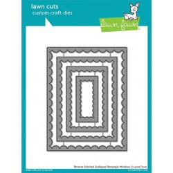LAWN FAWN CUTS REVERSE SCALLOPED RECTANGLE WINDOWS