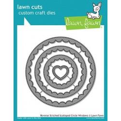 LAWN FAWN CUTS REVERSE SCALLOPED CIRCLE WINDOWS