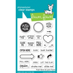 LAWN FAWN PUSH HERE STAMPS