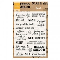 MARIANNE DESIGN CLEAR STAMPS BEACH