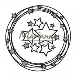 MARIANNE DESIGN CRAFTABLES  CIRCLE AND STARS