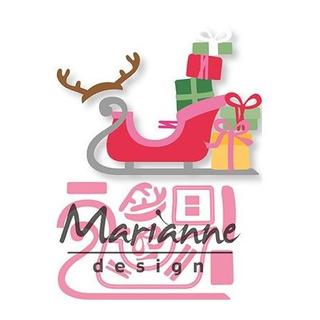 MARIANNE DESIGN COLLECTABLES ELINES SLEIGH