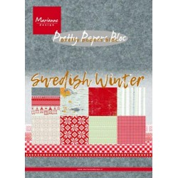 MARIANNE D PAPER PAD SWEDISH WINTER, 15x21 cm