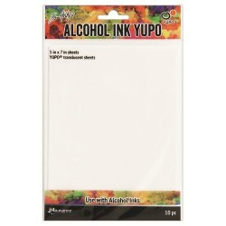 Tim Holtz Alcohol Ink Yupo paper transparent