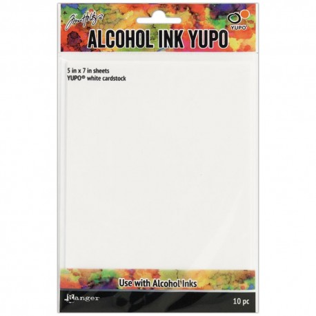 Tim Holtz Alcohol Ink Yupo paper white