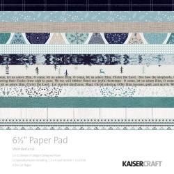 KAISERCRAFT WONDERLAND PAPER PAD 16X16 CM