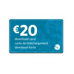 Silhouette Cameo 20 EUROS Download Card