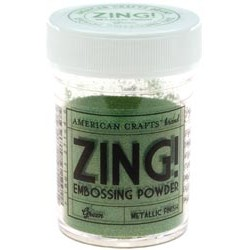 ZING EMBOSSING POWDER METALLIC GREEN