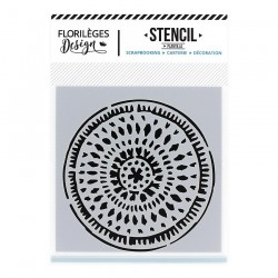 FLORILEGES DESIGN STENCIL Pochoir CERCLE ETHNIQUE CAPSULE SEPT.