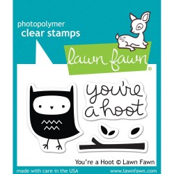 LAWN FAWN  STAMPS AND DIES SET YOU'RE A HOOT
