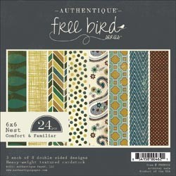 AUTHENTIQUE PAPER PAD FREE BIRD COMFORT AND FAMILIAR