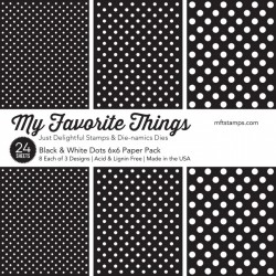 My favorite Things BLACK AND WHITE DOTS PAPER PACK 15X15 CM