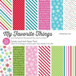 My favorite Things CANDY LAND DOTS PAPER PACK 15X15 CM