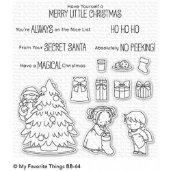 My favorite Things :BB SECRET SANTA CLEAR STAMPS