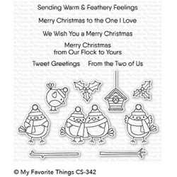 My favorite Things : TWEET HOLIDAYS CLEAR STAMPS