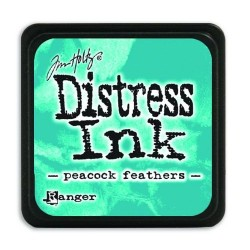DISTRESS INK MERMAID LAGOON PEACOCK FEATHERS