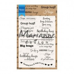 MARIANNE DESIGN CLEAR STAMPS HUGS ENGLISH
