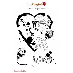 LORELAÏ DESIGN PARFUM DE ROSES POCHOIR/STENCIL