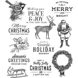 TIM HOLTZ CLING STAMPS FESTIVE OVERLAY