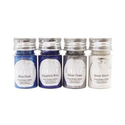 NUVO PURE SHEEN GLITTER LET IT SNOW, 4 X 25 ML,