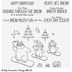 MFT READY,SET, SNOW  CLEAR STAMPS
