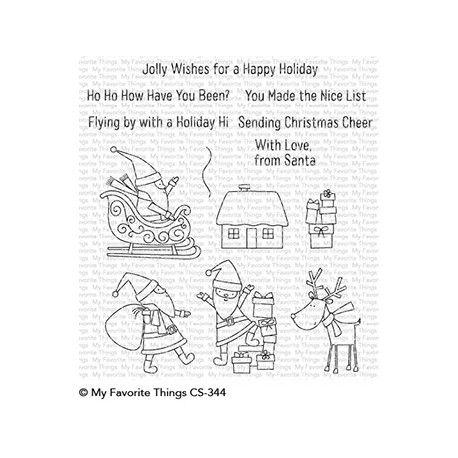MFT HERE COMES SANTA CLAUS CLEAR STAMPS