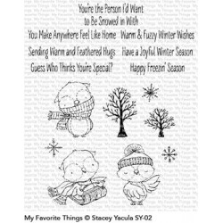 MFT WARM AND FEATHERED HUGS CLEAR STAMPS