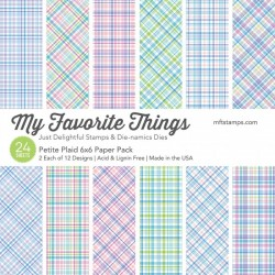 My favorite Things PETITE PLAID PAPER PACK 15X15 CM