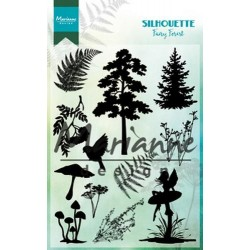 MARIANNE DESIGN CLEAR STAMPS SILHOUETTE FAIRY FOREST