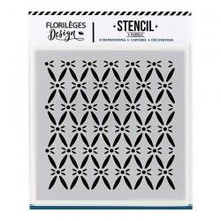 FLORILEGES DESIGN STENCIL Pochoir FOND CAPITONNE CAPSULE NOV.