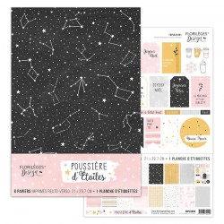 Kit collection POUSSIERE D'ETOILES, FORMAT A4