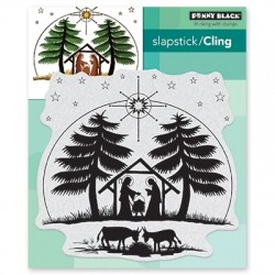 PENNY BLACK CLING STAMPS  - NATIVITY