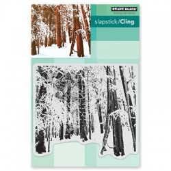 PENNY BLACK CLING STAMPS - SNOW FOREST