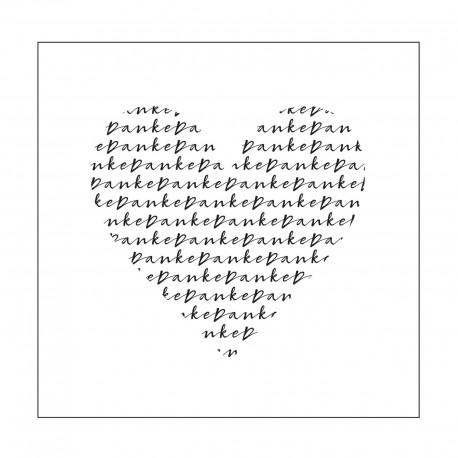 Vaessen Creative • MUNDART Pochoir d'embossage texte DANKE