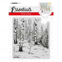 STUDIO LIGHT CLING STAMP ESSENTIALS CHRISTMAS 01