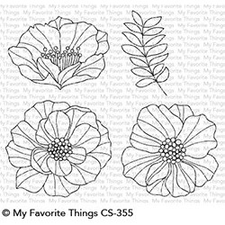 My favorite Things : BRILLIANT BLOOMS CLEAR STAMPS