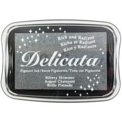 Tsukineko Delicata Silvery Shimmer - Pigment ink,