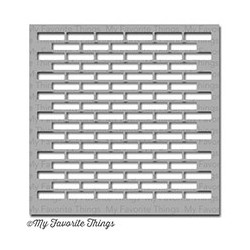 MIX-ABLES SMALL BRICK WALL STENCIL 15X15 CM