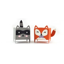 LAWN FAWN TINY GIFT BOX RACCOON AND FOX ADD ON DIES